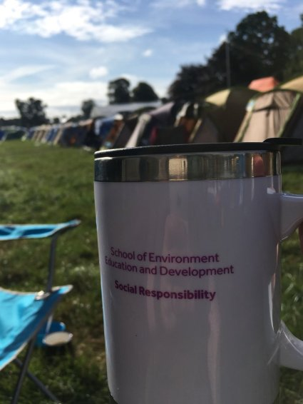 Rosie's mug at Greenman Festival
